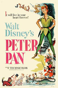 Plakat Disneyevog animiranog filma Peter Pan (1953.)