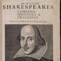 Naslovnica First Folio izdanja Shakespeareovih drama (1623)